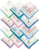 Skintice Women's Cotton Floral Pattern Handkerchief