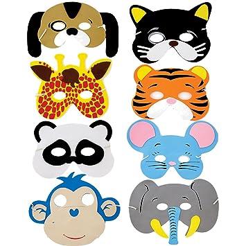 ruiistu Pack de 8 surtidos Espuma EVA máscaras de animales