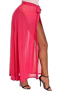 b1c249495e Bulawoo Women's Bikini Sarong Sexy Swimwear Cover Up Sheer Wrap Maxi Beach  Skirt