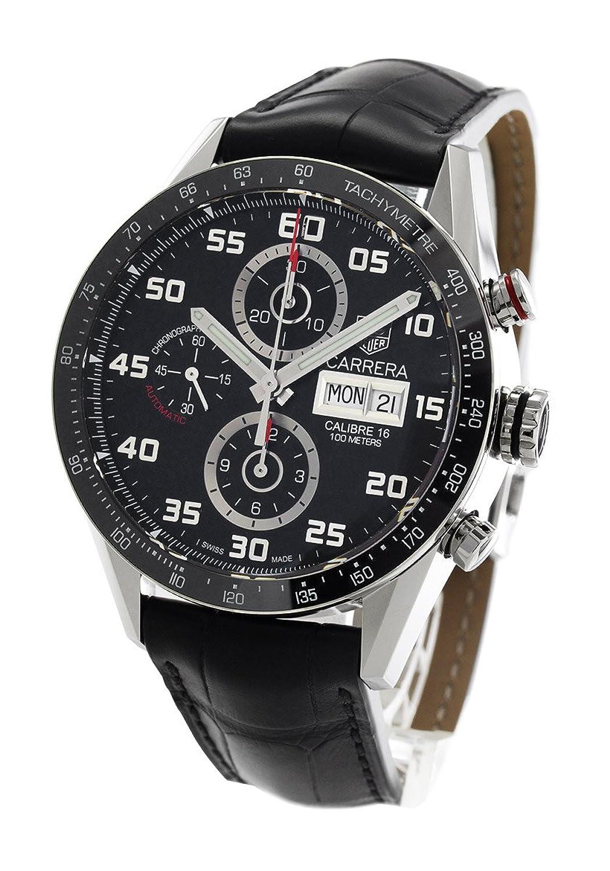 タグホイヤー カレラ クロノグラフ アリゲーターレザー 腕時計 メンズ TAG Heuer CV2A1R.FC6235[並行輸入品] B075494C9M