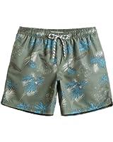 MaaMgic Mens Quick Dry Printed Pattern Swim Trunks With Mesh Lining Swimwear Bathing Suits