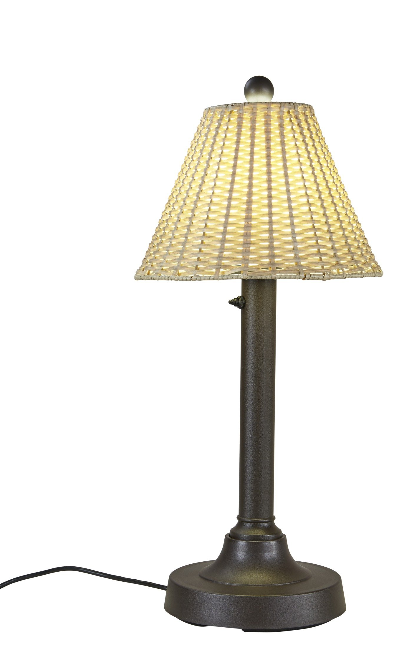 Patio Living Concepts 19227 Tahiti Outdoor Table Lamp with 2'' Tubular Body, 30'' by Patio Living Concepts