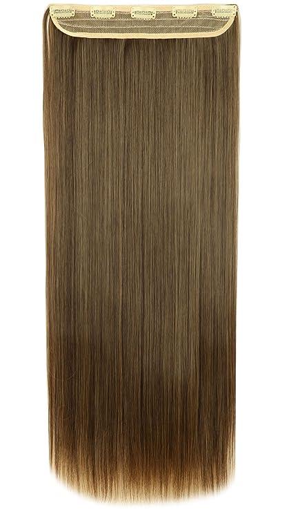 Extensiones de cabello, clip de una banda, 58 a 76 cm.