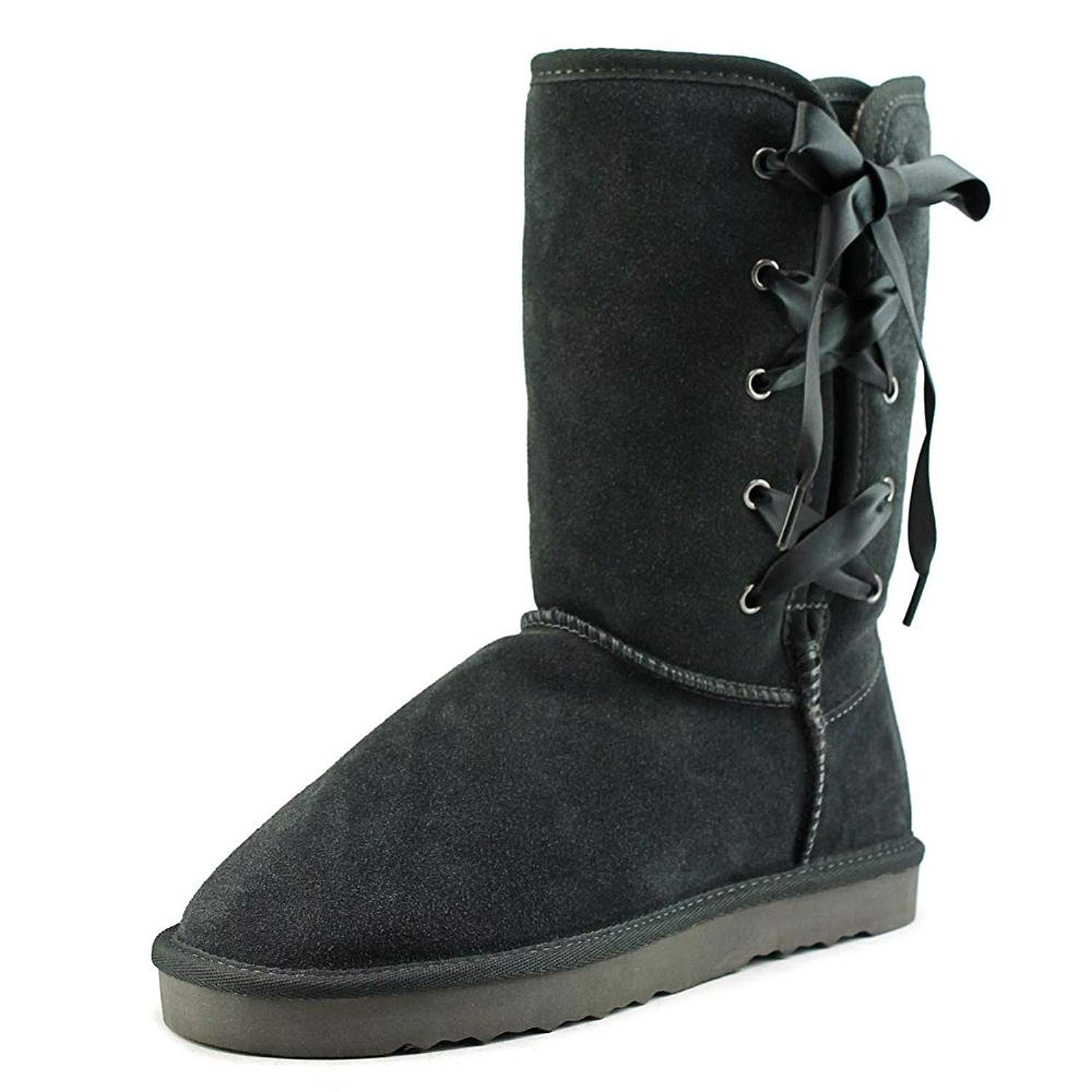 Style & Co. Womens Aliciah Leather Closed Toe Mid-Calf Fashion Boots Grey Size 10.0 US
