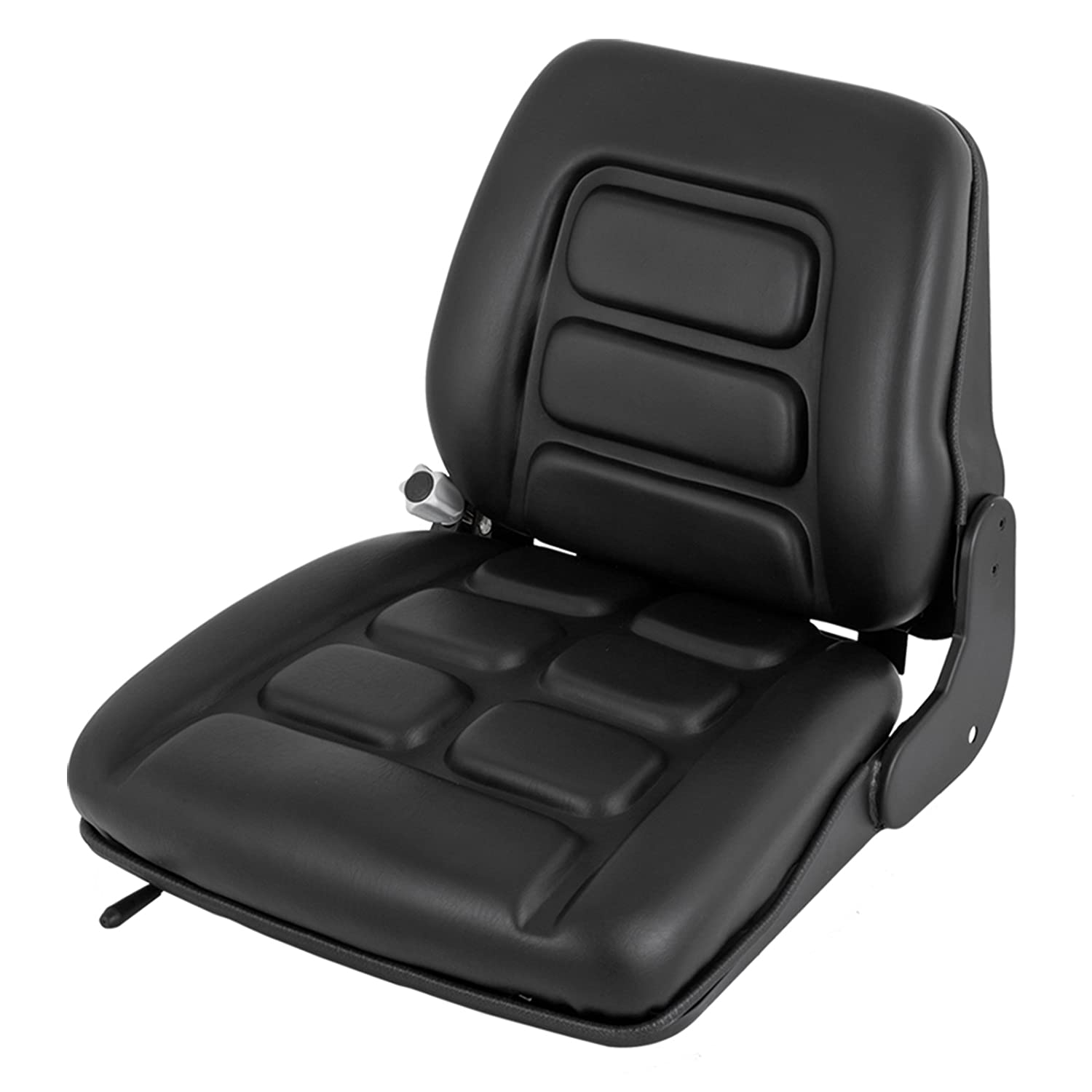 Happybuy Universal Forklift Seat Vinyl Forklift Suspension Seat 3-Stage Weight Adjustable Forklift Seat Fits Clark Cat Hyster Yale Toyota