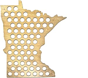 All 50 States Beer Cap Map - Minnesota Beer Cap Map MN - Glossy Wood - Skyline Workshop - Christmas gift!