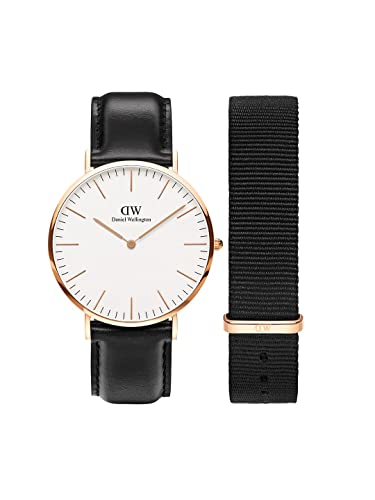 b34ff3b4788e Buy Daniel Wellington Classic Sheffield 40mm Rose Gold Watch and 20mm Black  Cornwall NATO Strap Online at Low Prices in India - Amazon.in