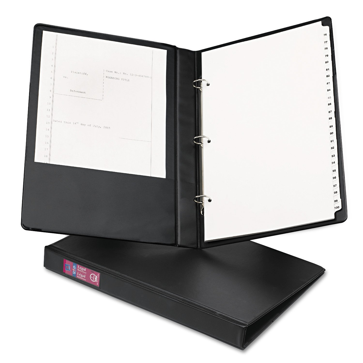 Avery 06400 Legal Durable Non-View Binder with Round Rings, 14 x 8 1/2, 1'' Capacity, Black