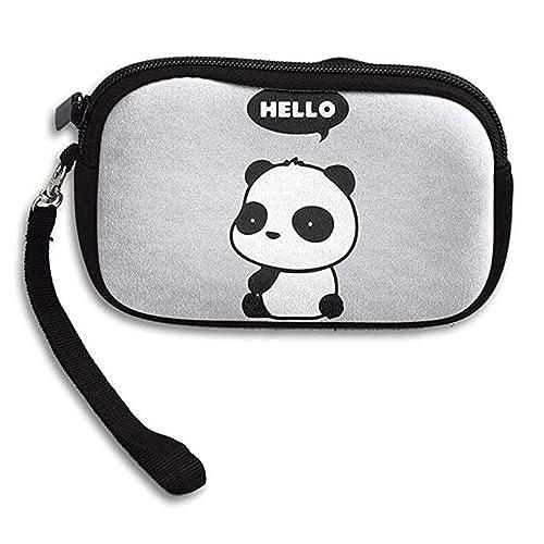 Amazon.com: LHQs - Monedero con diseño de panda de Hello ...
