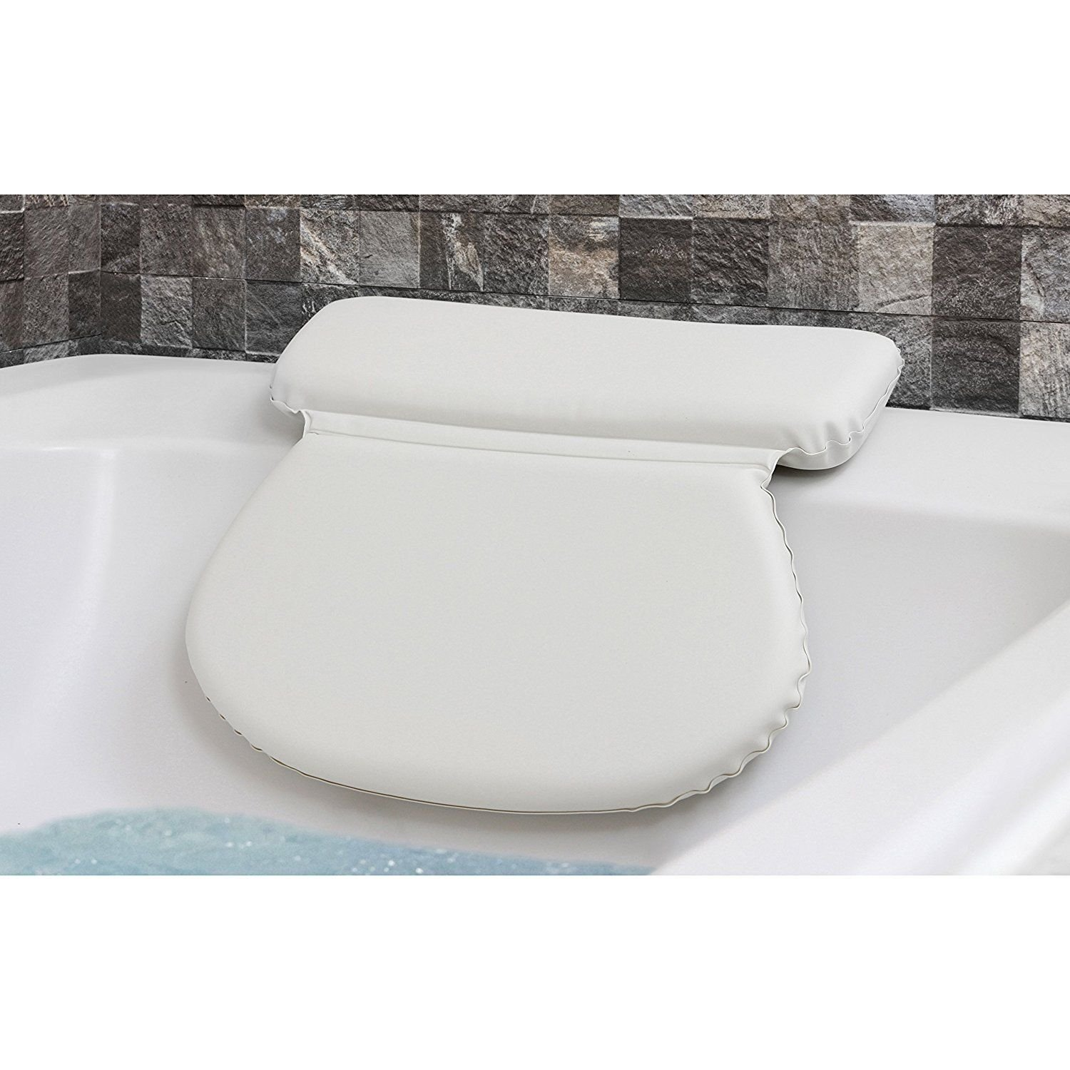 Luxury Comfort Spa Bath Pillow Cushion Mat with 7 Non-Slip Suction Cups - Turn Your Bath into a Spa Experience