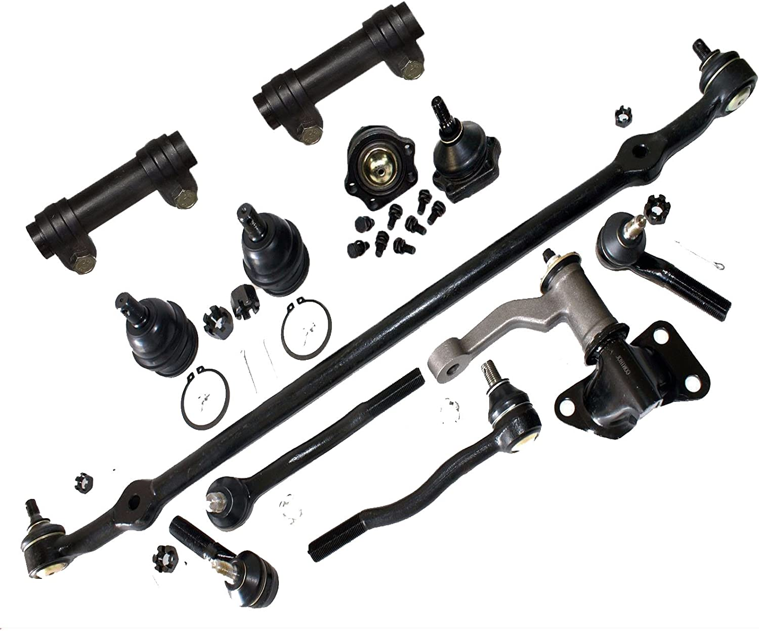 12 pc Kit Tie Rod Ends Idler Arm Ball Joints For Nissan D21 Pickup 86-97 2WD