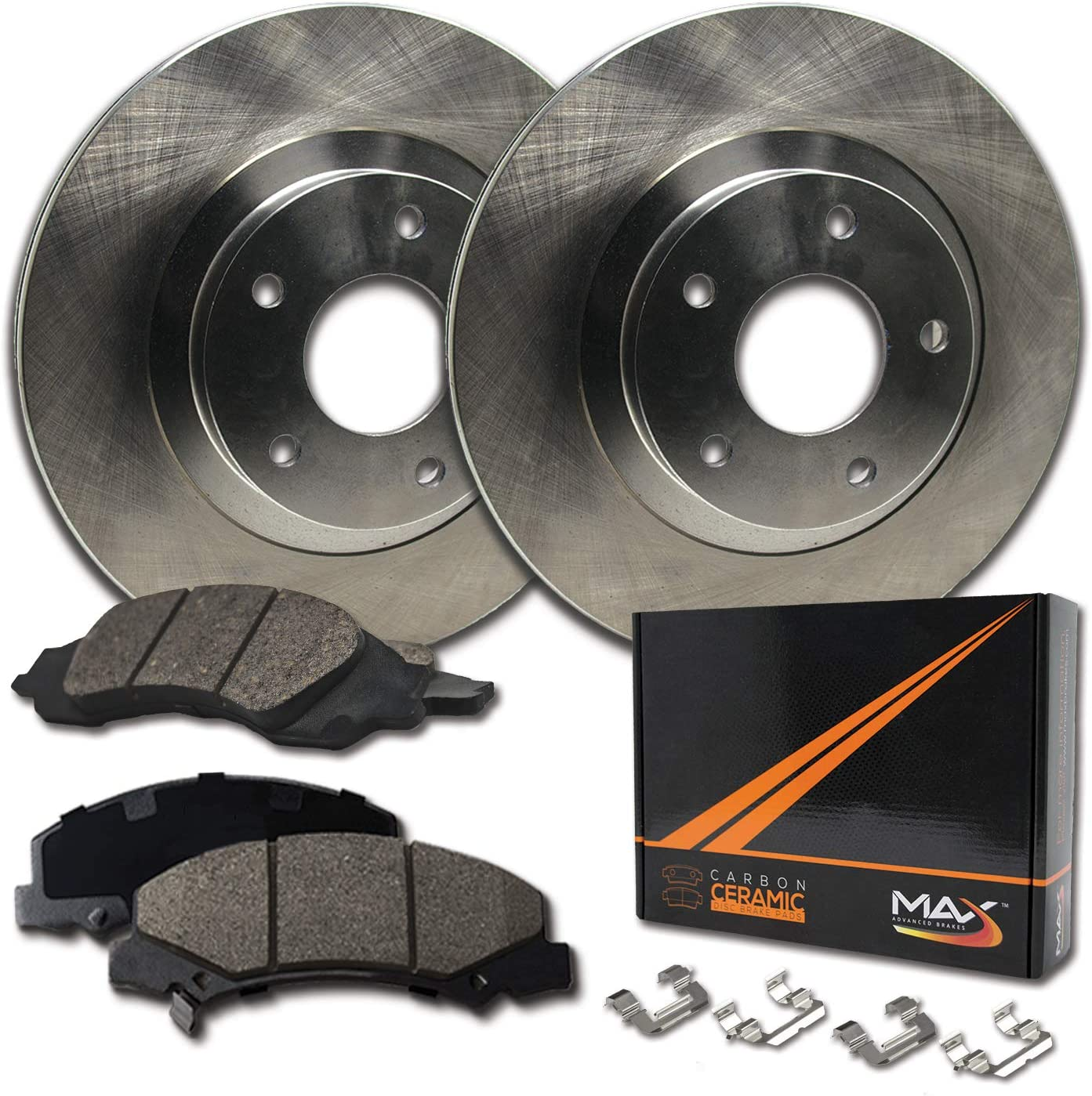 Rear Max Brakes 58% OFF Premium OE Excellent Rotors Ceramic Carbon and Pads with