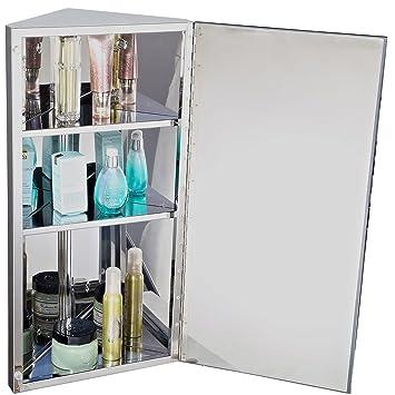 Homcom Armoire Miroir Rangement Toilette Salle De Bain Meuble Mural Dangle 60 X 30