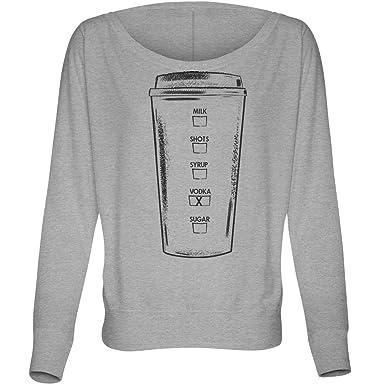 288249bdb432 Amazon.com  Coffee with Vodka  Bella Ladies Flowy Off Shoulder Tee  Clothing