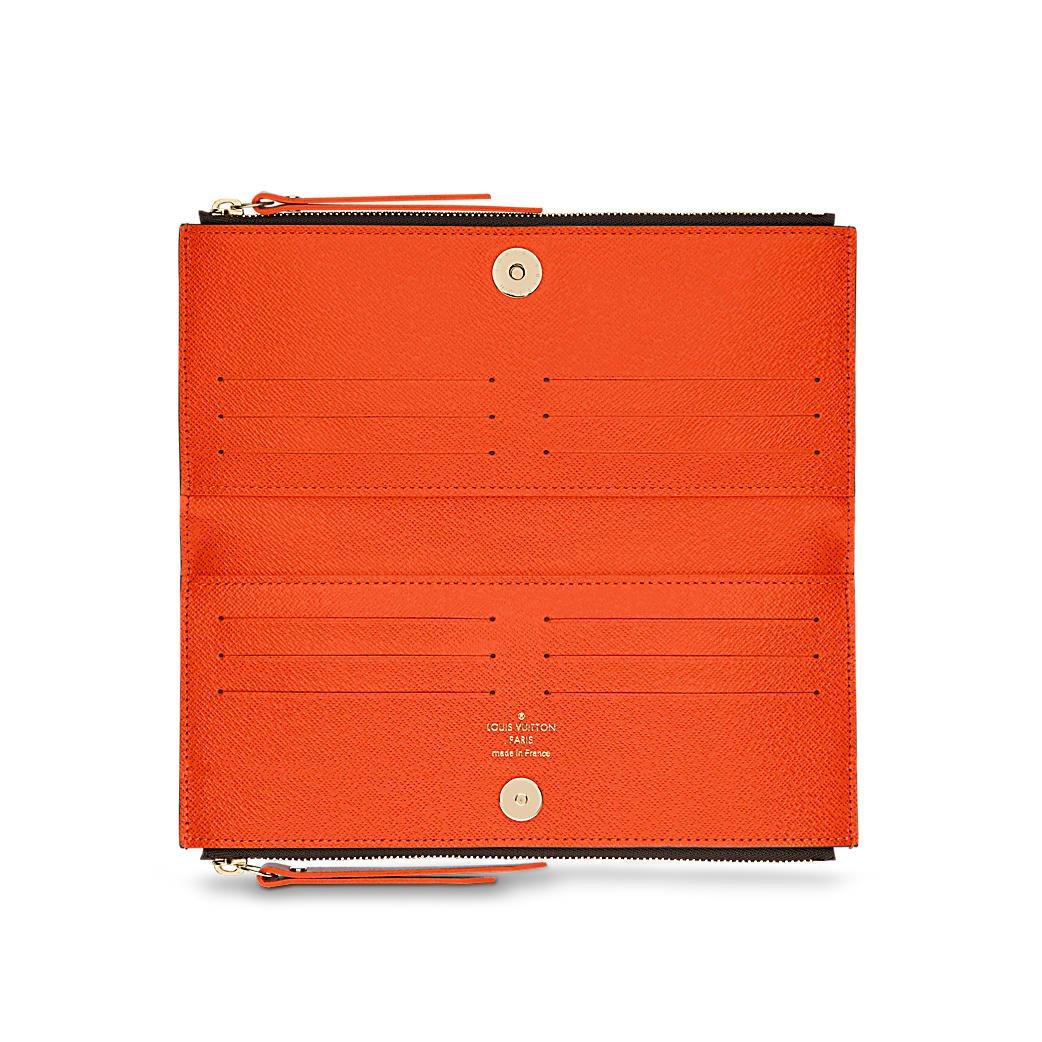 Louis Vuitton Monogram lienzo Chili rojo Adele Wallet m61270: Amazon.es: Zapatos y complementos