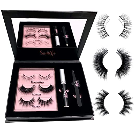 Details about  /10PCS 3D Eyelashes Hand Made Reusable Natural Long Eyelashes Mink F4Y5