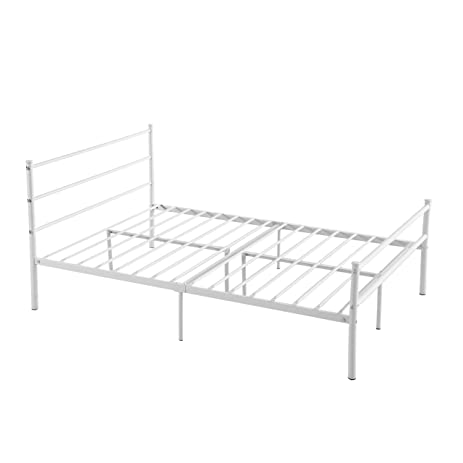 Amazoncom Metal Bed Frame Full Size GreenForest 10 Legs