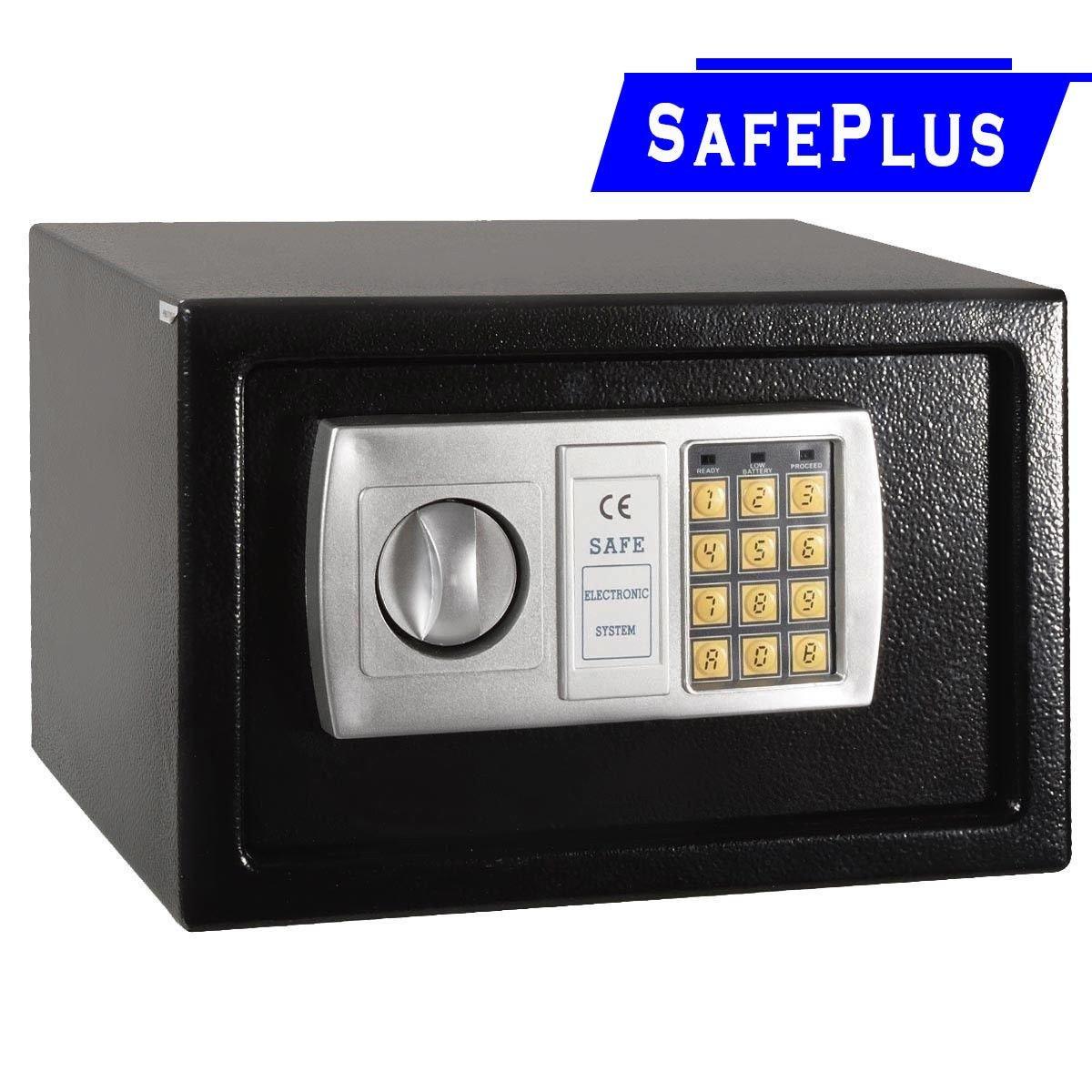 12.5インチ電子デジタルロックキーパッドセーフボックス現金ジュエリーGun Safe new-black – Constructed with 2 mm厚ソリッドスチール – が開きwithデジタルピンまたは含ま優先キー B01HGNUHSS