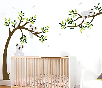 ALiQing Koala Family Trees Wall Decal for Nursery Baby Bedroom Wall Decor  (225cm Width x 150cm...