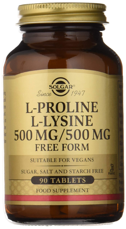 Solgar - L-Proline/L-Lysine (500/500 mg) 90 Tablets by Solgar (Image #1)