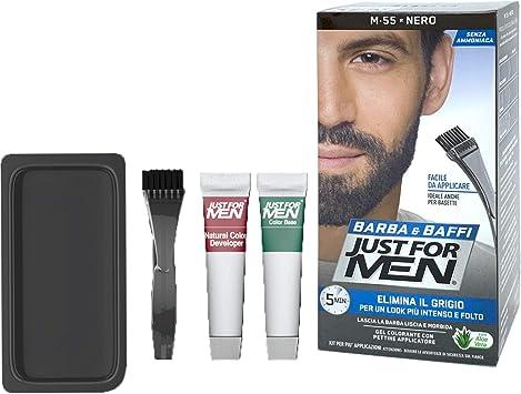 Tinte Just For Men para barba y bigote, gel de aplicación con cepillo