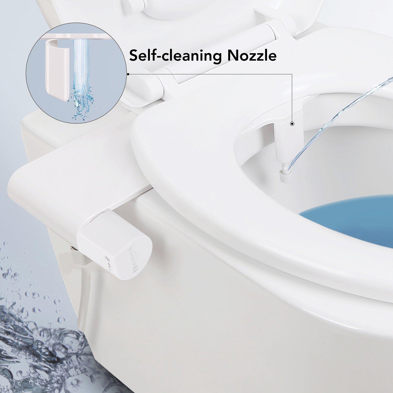 marnur bidet WC con acqua fresca Spray e selbstreinigender ugello e igienico Griglia di protezione Non elettromeccanica, facile da usare per la Disinfezione della untens