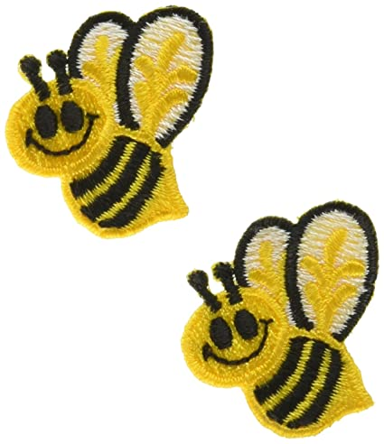 Amazoncom Wrights Iron On Appliques Bumble Bees 1X1 12 2Pkg