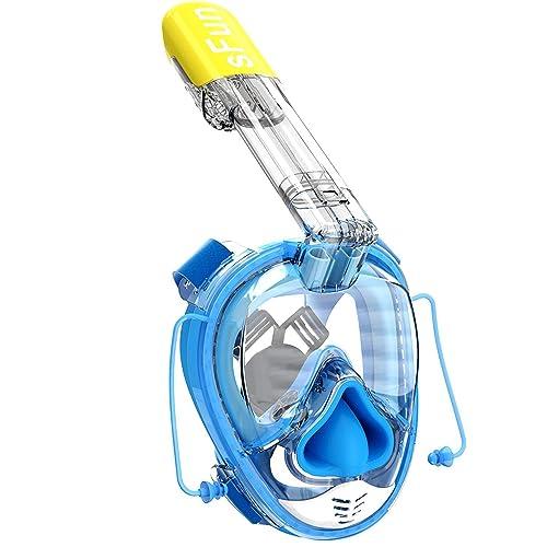 SFUN Masque de plongée avec Masque intégral Masque de plongée avec égalisation de la Pression de l'oreille et Taille
