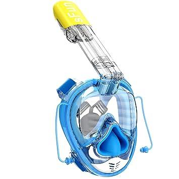 Snorkel Máscara De Buceo Máscara,Máscara con Gasbag para Snorkel 180 ° Vista Panorámica Sistema