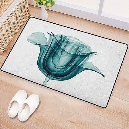 Amazon Com Flower Bath Mats For Floors X Ray Image Of A