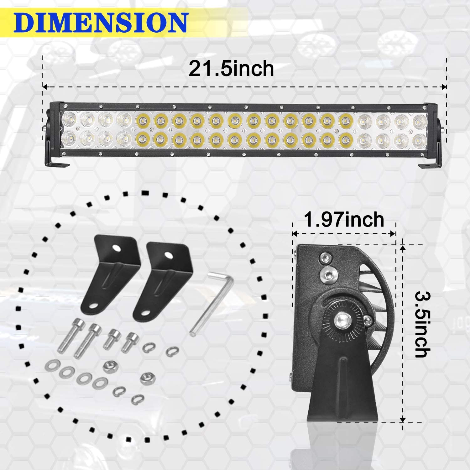 LMGAO 22 inch led Light bar 120W Combo Dual Row Driving Light Offroad led bar Work Light Car Tractor Truck 4x4 SUV ATV 12V 24V