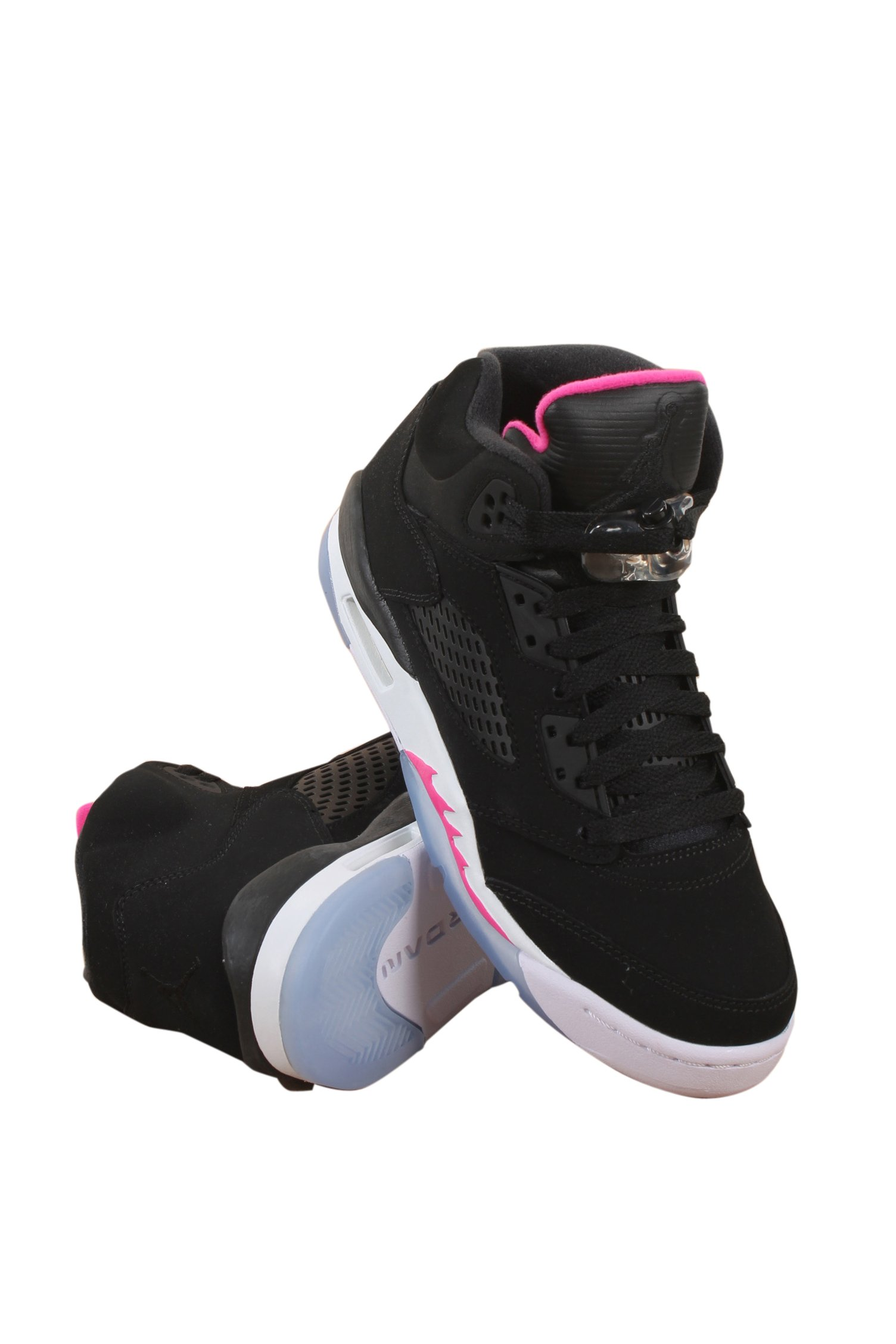 Jordan AIR 5 RETRO GG GIRL GRADE SCHL girls basketball-shoes 440892-029_7.5Y - BLACK/BLACK-DEADLY PINK-WHITE by Jordan