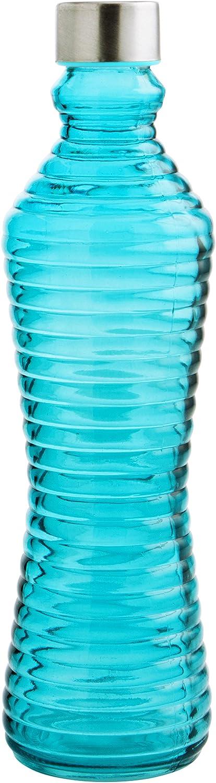 Quid Botella 1L con Tapa Line Azul, Vidrio