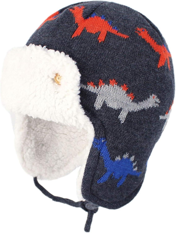 YJZQ Bonnet Cache Oreille Chapeau Hiver Oreille Protection Gar/çon Fille Cap Tricot/é en Coton Capuchon Chaude avec Jacquard pour Enfant 2-4 Ans et 5-10 Ans Faire du Ski /école Jouer Dehors