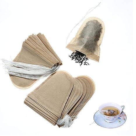 Bolsas de filtro de té Volwco, 100 unidades de infusores de ...