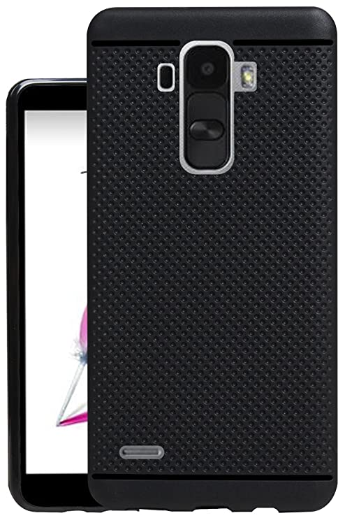 buy online 0dbfe ff7a4 Jkobi Classic Dotted Designed Soft Rubberised Back Case Cover for LG G4  Stylus - Black