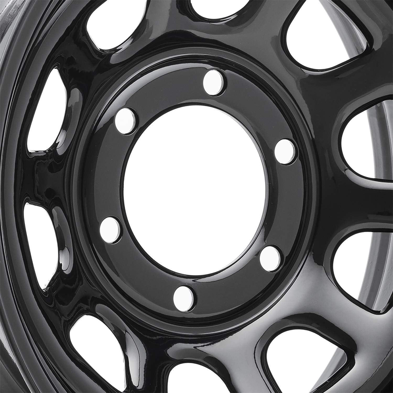 """16/"""" Vision 85 Soft 8 Gloss Black Steel Wheel 16x8 5x4.5 0mm Ford Jeep 5 Lug Rim"""