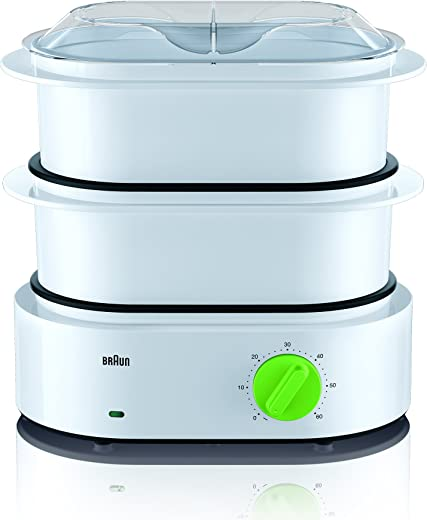 Braun Tribute Collection FS 3000 stoomkoker (850 W) wit/groen