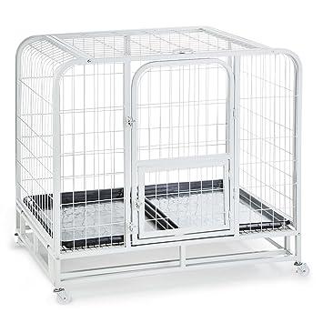 Oneconcept Hundeinternat Jaula de Entrenamiento para Perros (Suelo higiénico, Ruedas de Transporte, tamaño