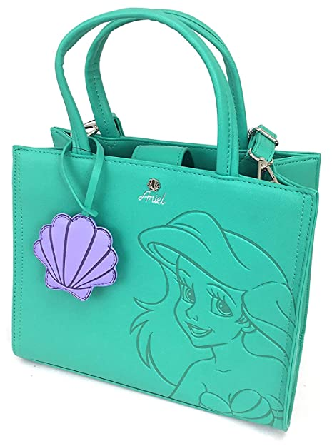 9bcf03f67ca Loungefly x Disney Little Mermaid Ariel Debossed Crossbody Bag with Shell  Charm