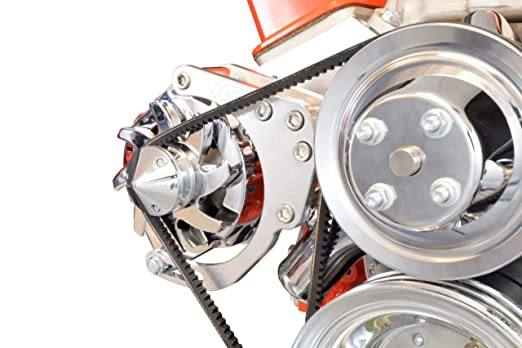 ICT Billet SBC LWP Alternator Bracket Double Hump Heads Adjustable Billet  Kit Small Chevy 305 327 350 5 0L 5 7L V8 Eight Cylinder Long Water Pump