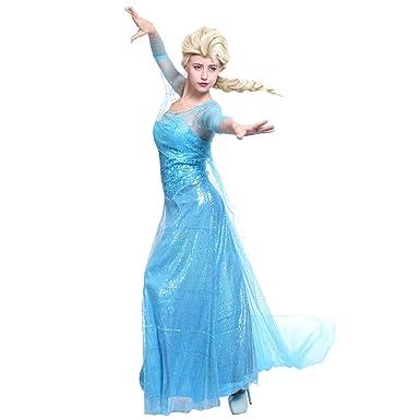 Maboobie - Disfraz para adultos, diseño de vestido con capa de la princesa Elsa de