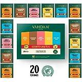 VAHDAM, Chai Tea Sampler, 5 TEAS - Tea Variety Pack | Assorted Chai Tea Bags | Cardamom Tea Bags, Cinnamon Tea Bags, Turmeric Masala Chai Tea Bags | 20 Ct | Tea Gift Set