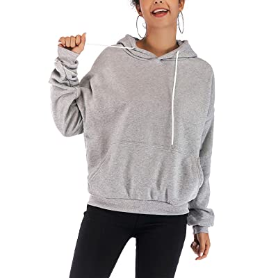 Women's Jersey Hooded Sweatshirt Stripe Drop Shoulder Loose Drawstring Hooded Pullover with Pockets: Clothing