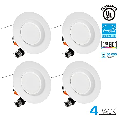 Wet Location 5/6 inch Dimmable Retrofit LED Recessed Downlight, LUTRON Caseta Dimmer Compatible