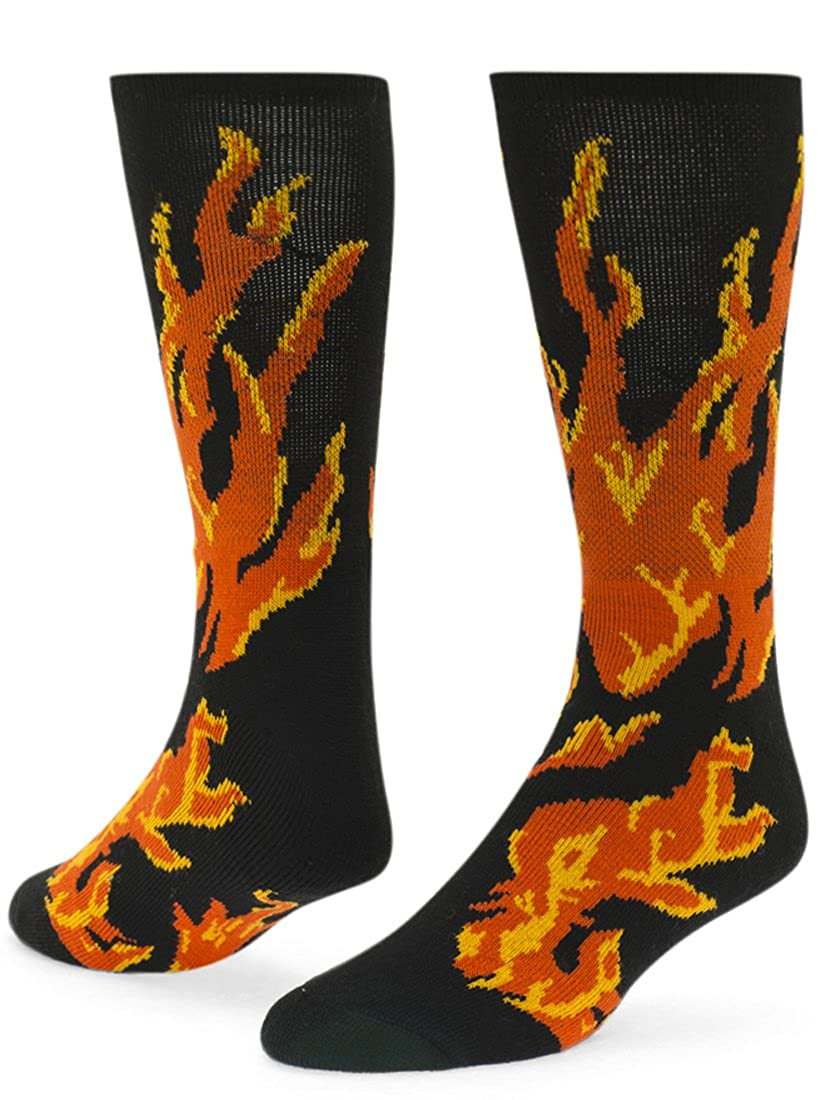 Red Lion Flame Knee-high Sock Black - Small