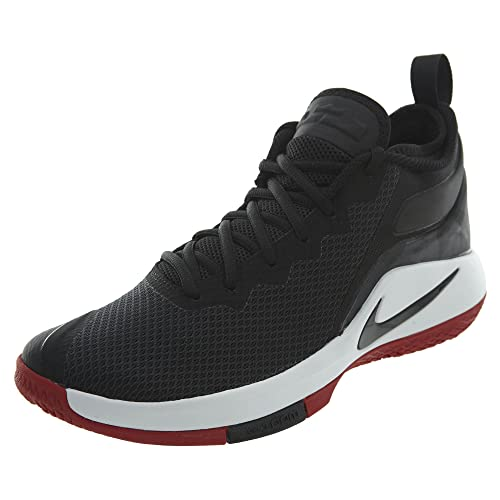e3e7021dffd7 NIKE Men s Lebron Witness II Basketball Shoe Black White-Gym Red 8