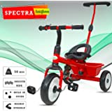 BAYBEE Spectra Plug and Play Kid's Tricycle with Parental Adjust Push Handle (Red, 1-5 Years)