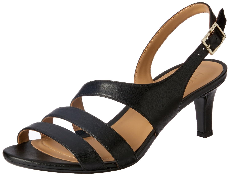 Naturalizer Women's Taimi Dress Sandal B014GNBRXA 7 B(M) US|Black Leather