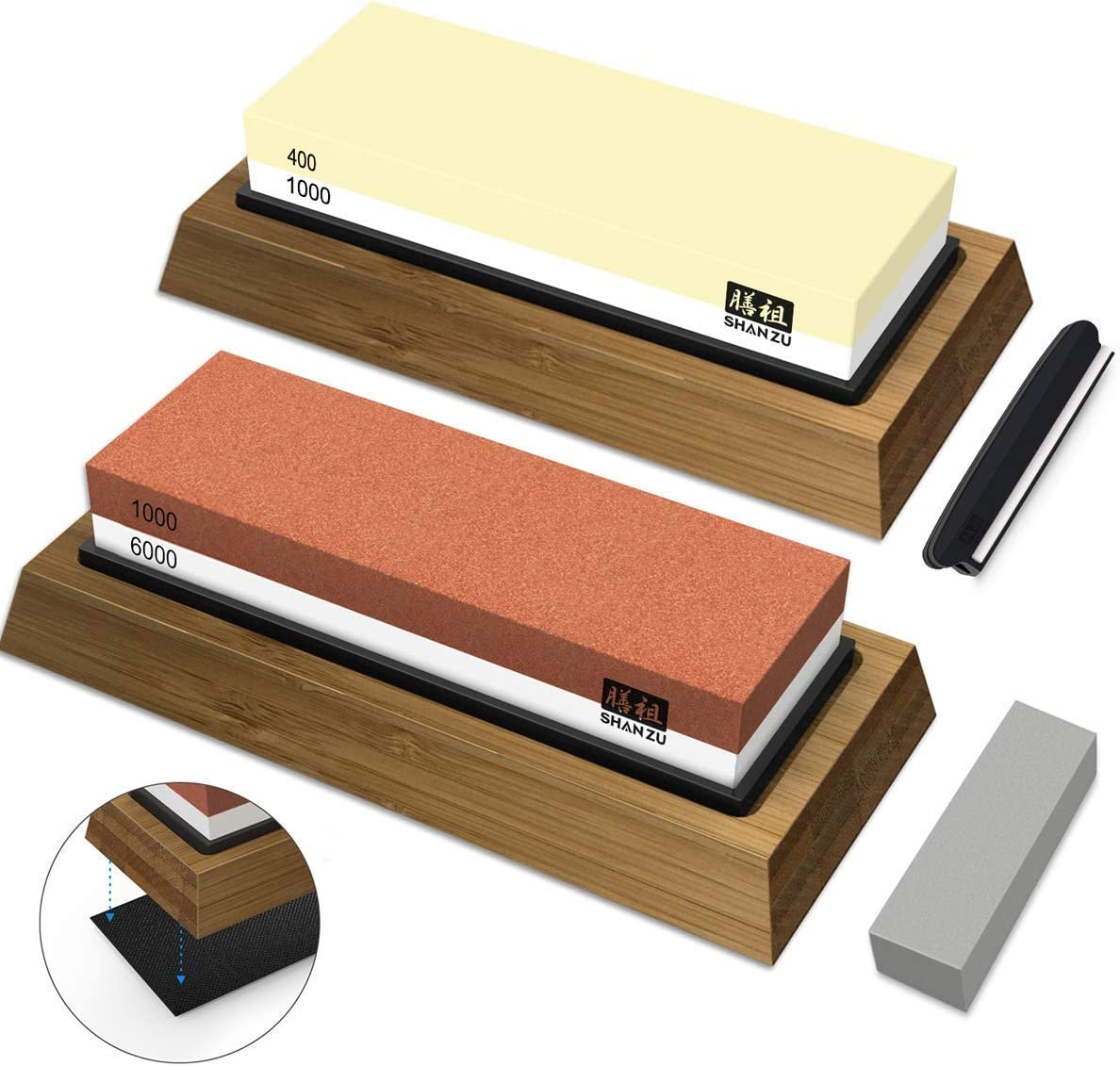 SHAN ZU Complete Sharpening Stone Set 1000 Manufacturer OFFicial shop Grit Dual Sale Special Price 400 Whetst